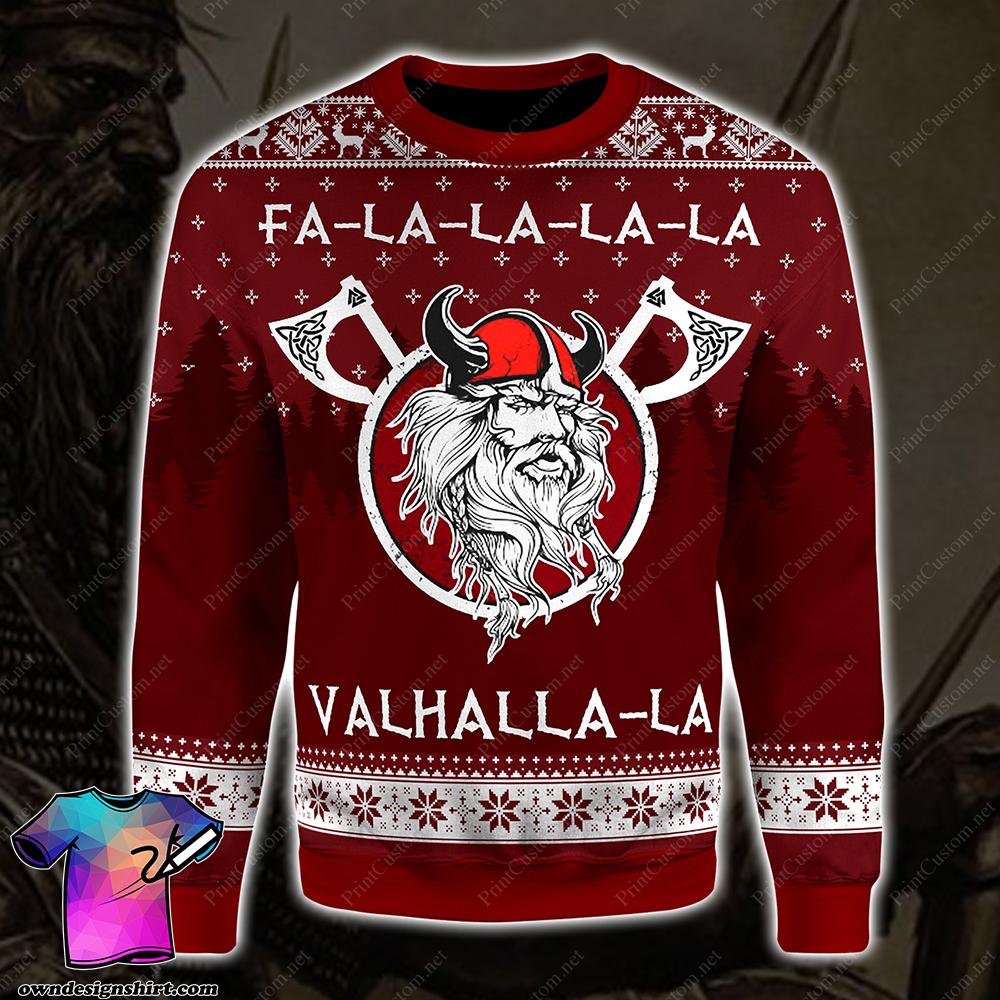 Fa-la-la-la-la valhalla-la viking ugly christmas sweater