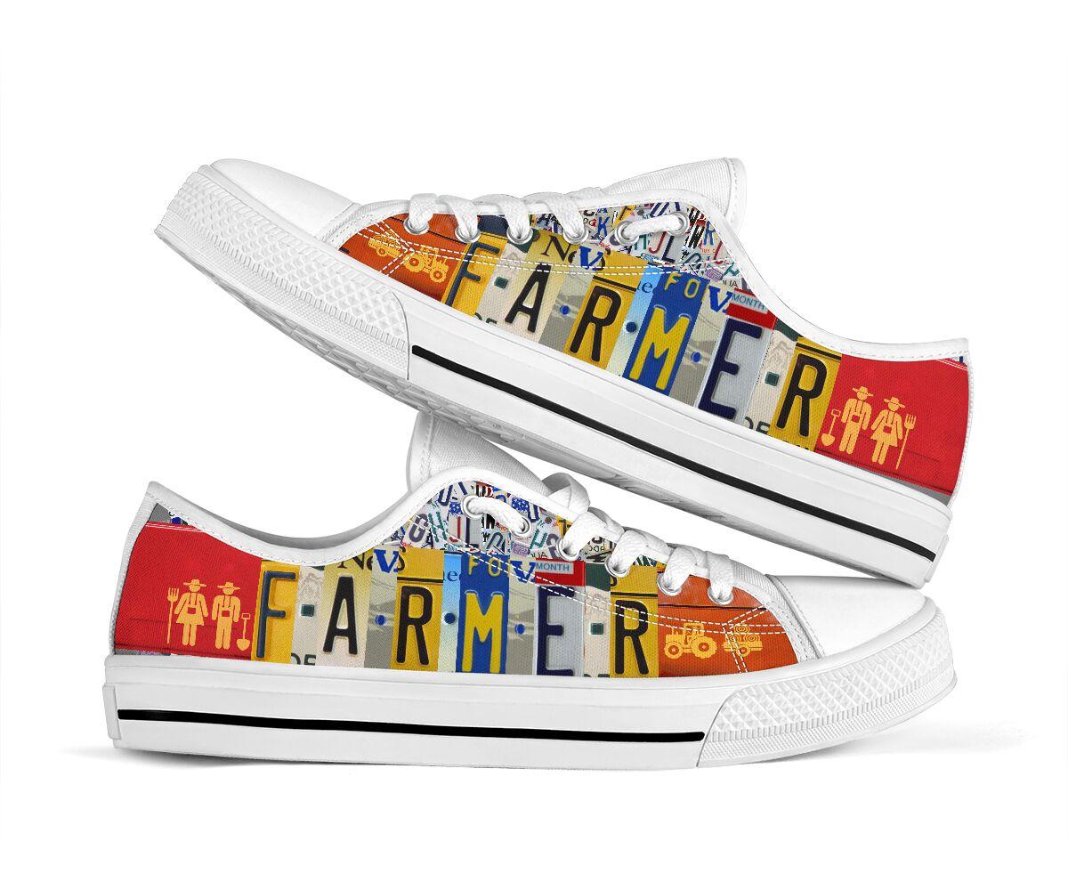 Farmer license plates low top sneakers 2
