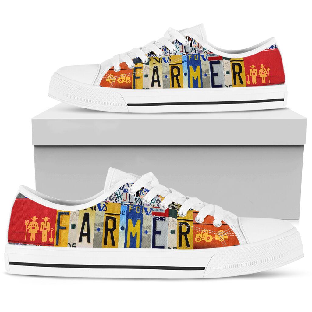 Farmer license plates low top sneakers 5