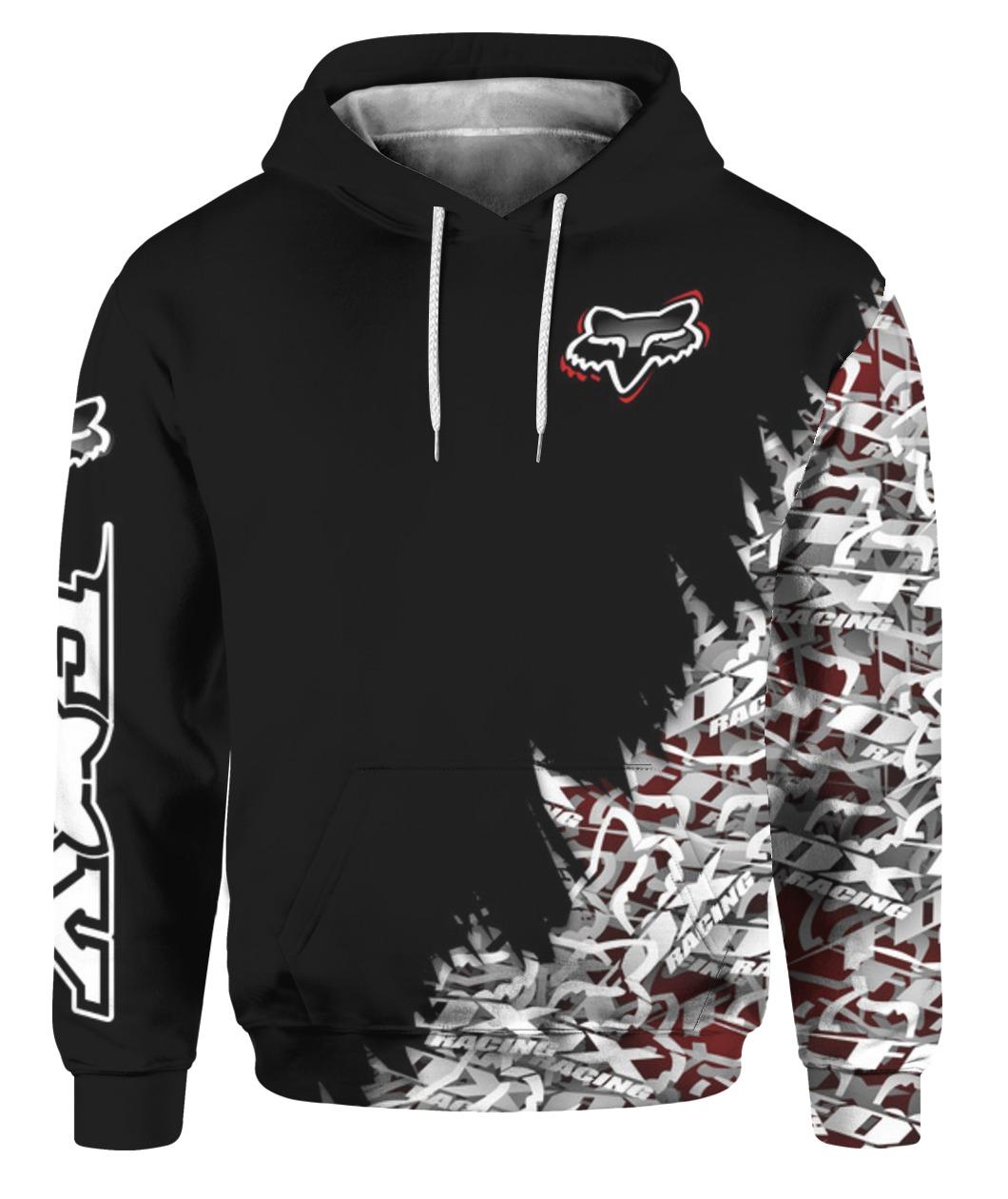Fox racing full printing hoodie 1
