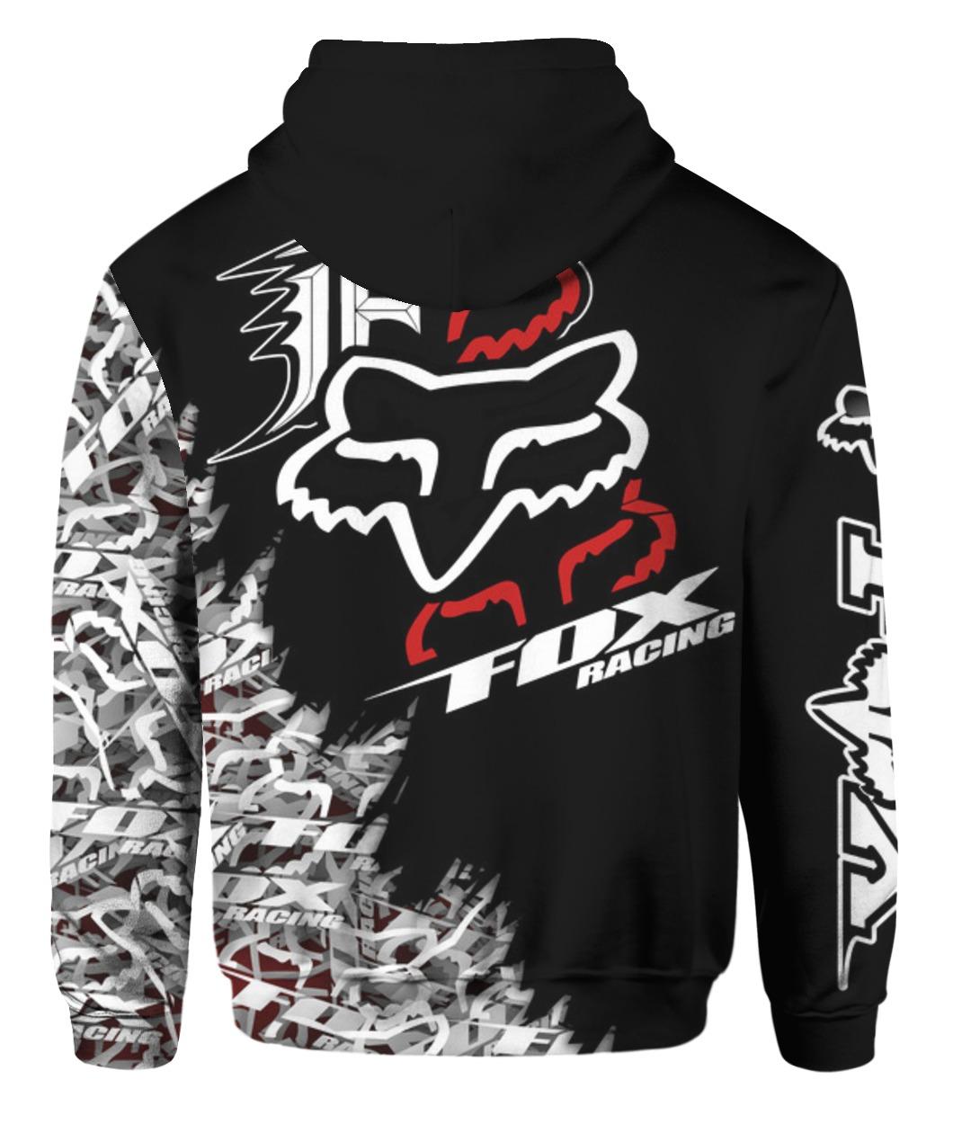 Fox racing full printing hoodie - back