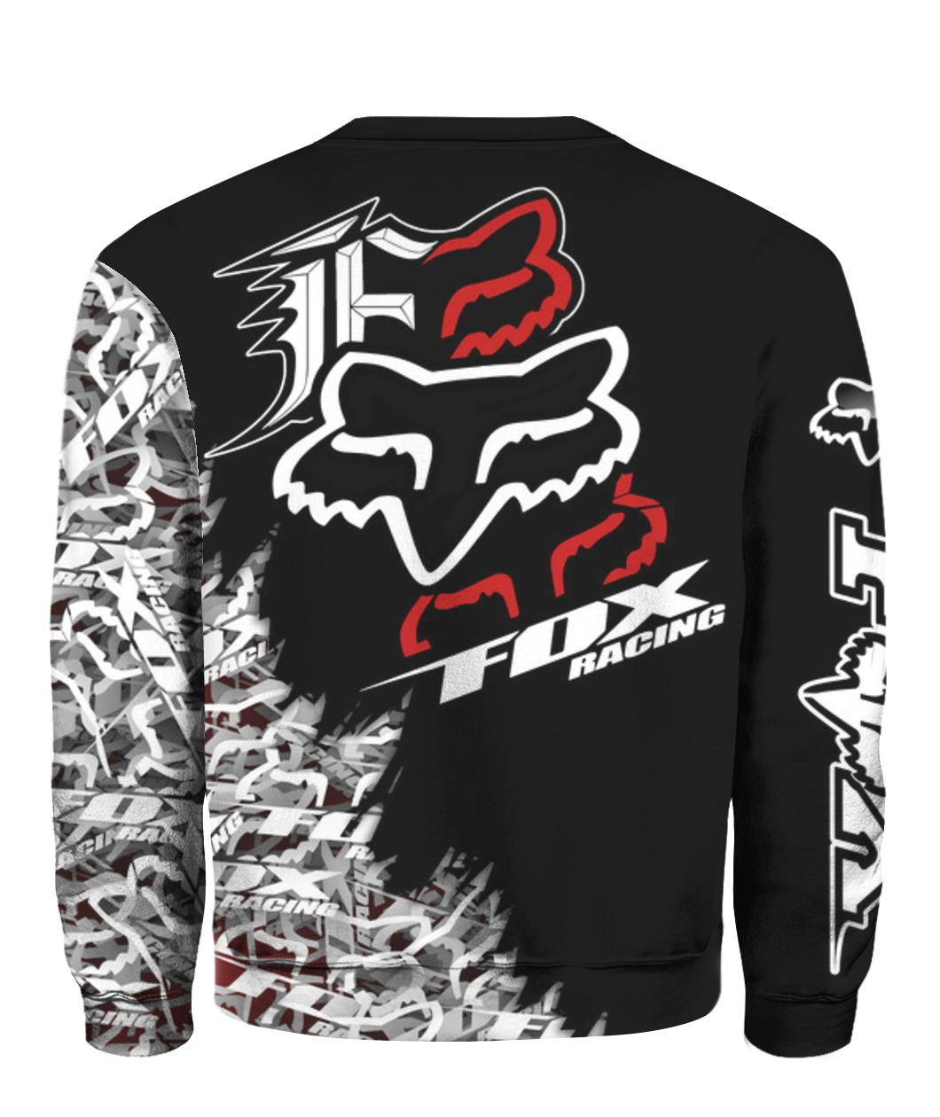 Fox racing full printing sweatshirt - back