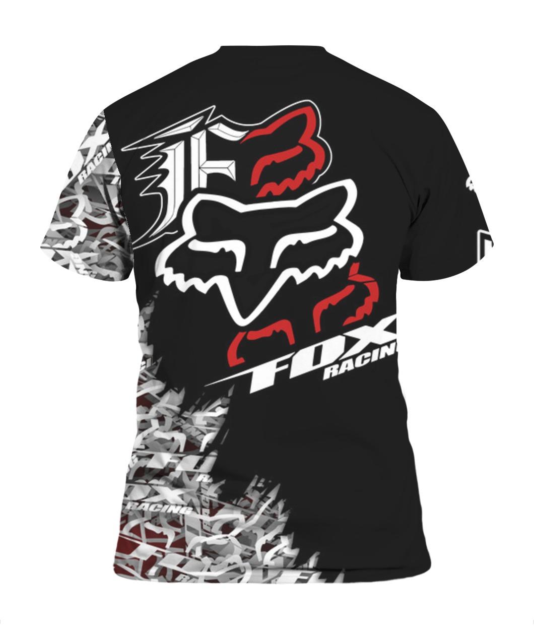 Fox racing full printing tshirt - back
