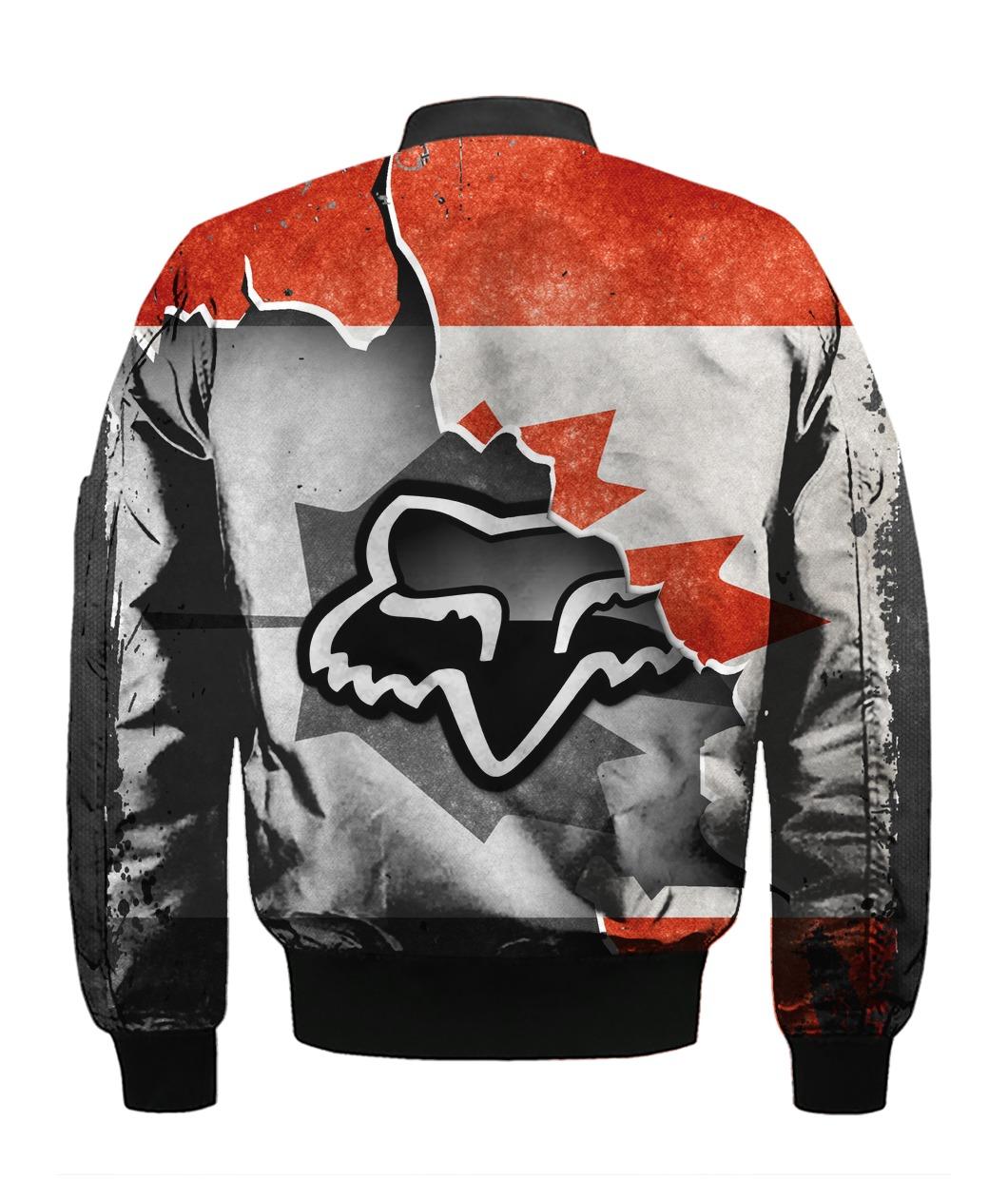 Fox racing in canada flag full printing bomber 1
