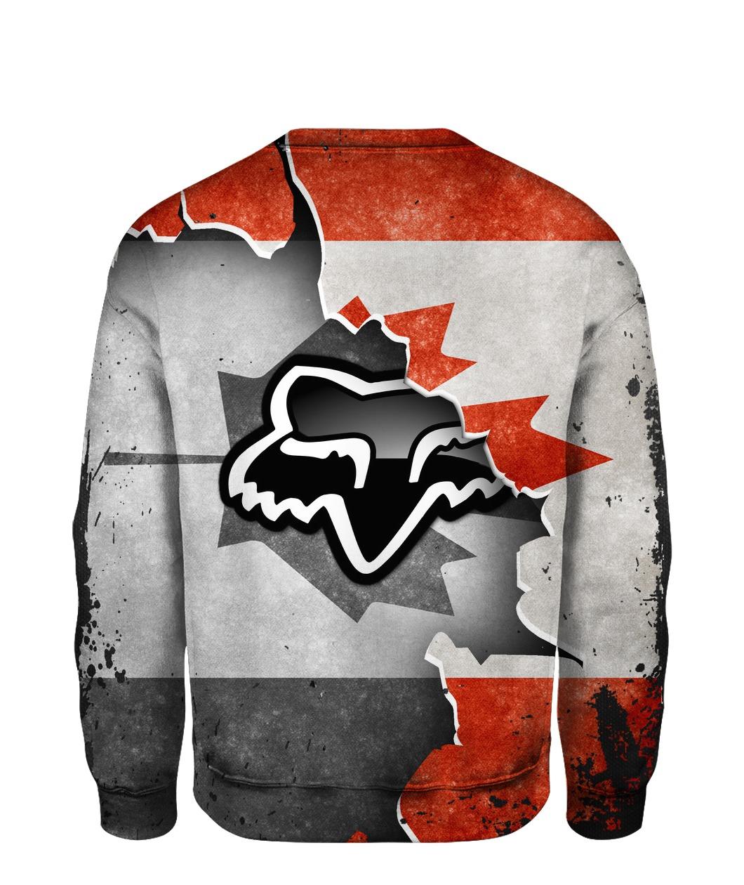 Fox racing in canada flag full printing sweatshirt 1