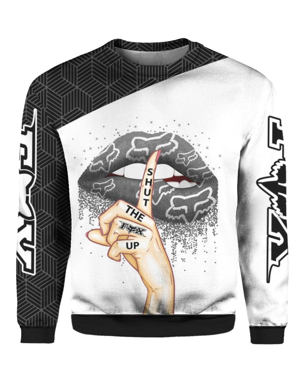Fox racing shut the fox up all over print sweatshirt