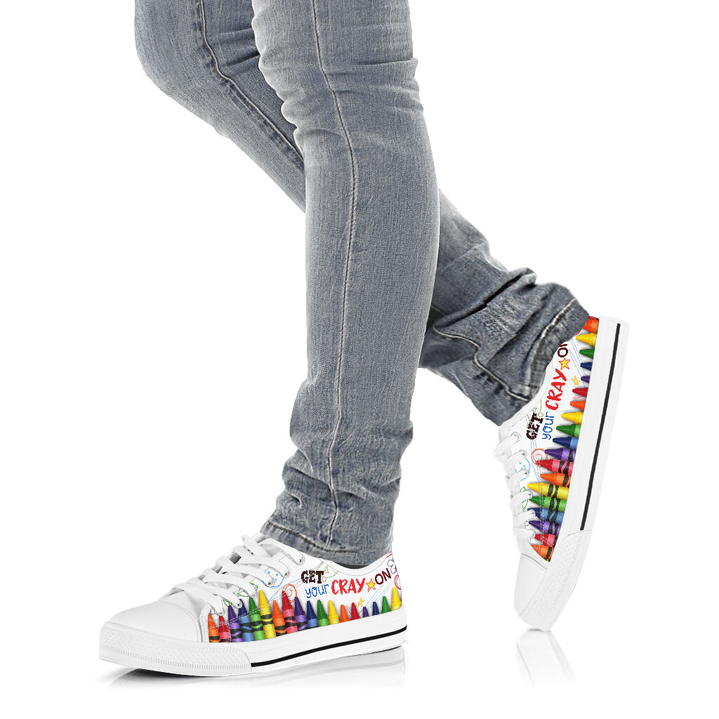 Get your cray on low top sneakers 4