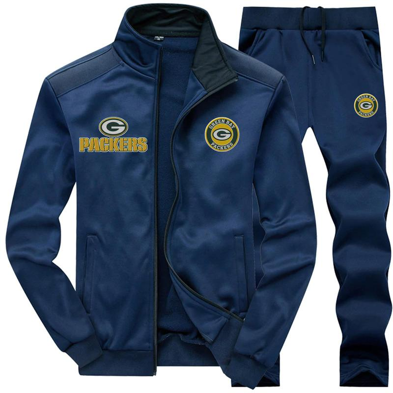 Green bay packers 3d jacket and sweatpants - navy