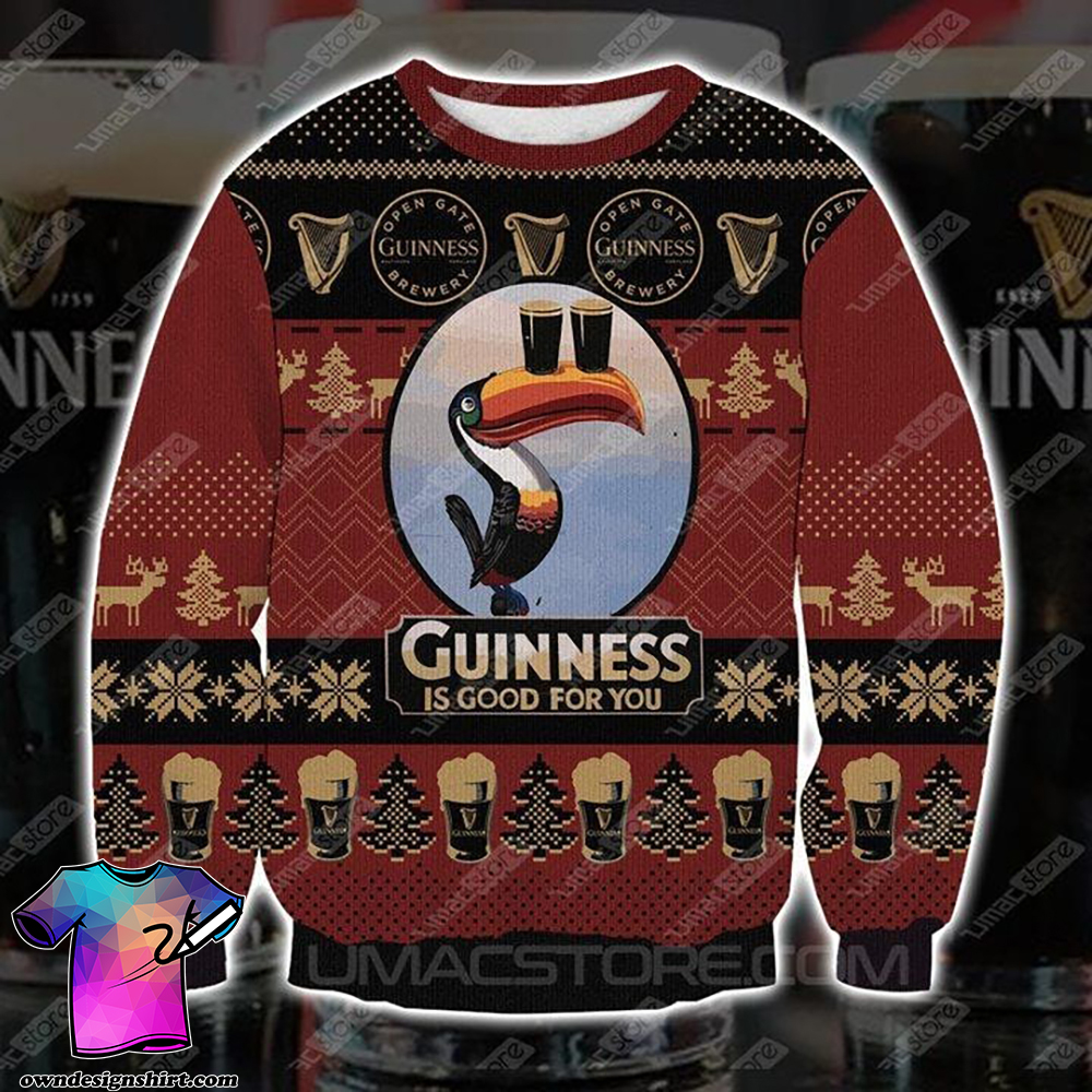 Guinness is good for you full printing ugly christmas sweater