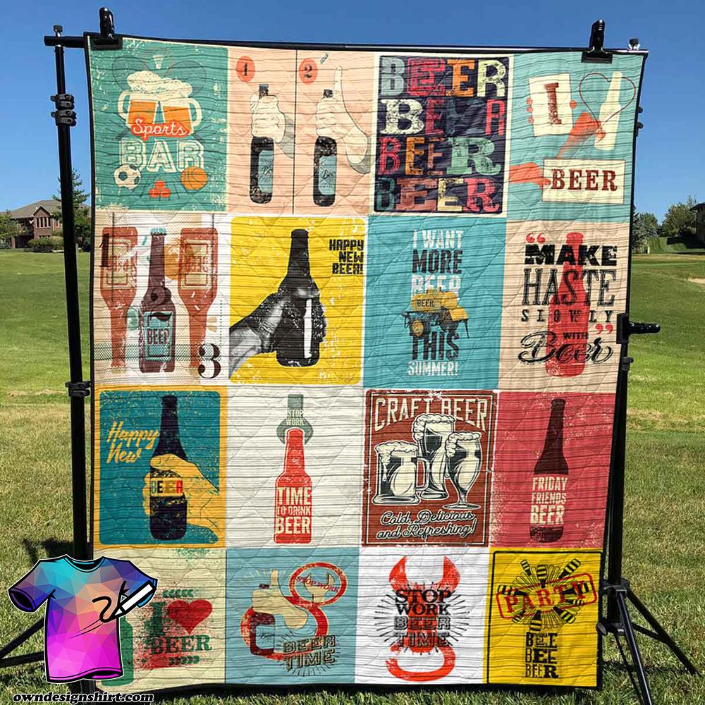Happy new beer quilt
