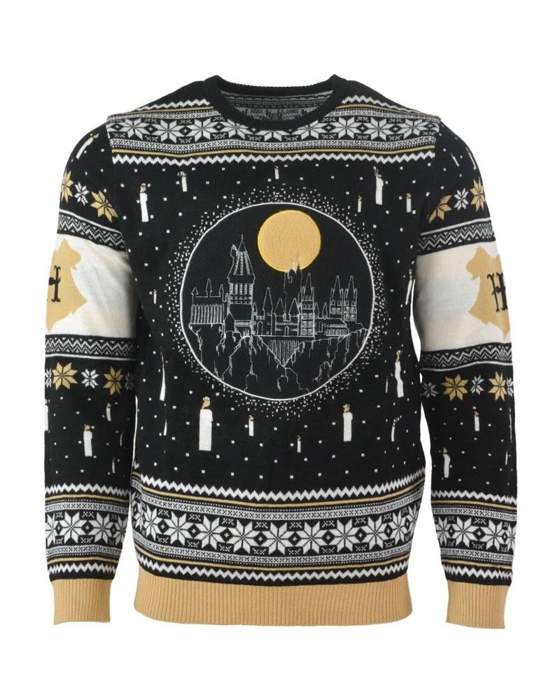 Harry potter hogwarts castle full printing ugly christmas sweater 3
