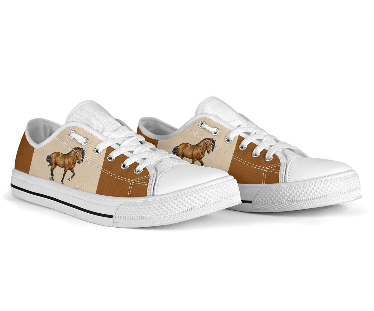 Horse low top canvas sneakers 4