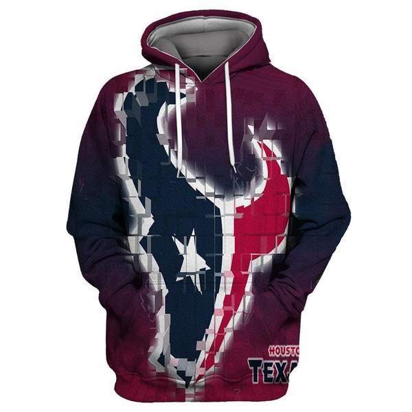 Houston texans full printing hoodie 3