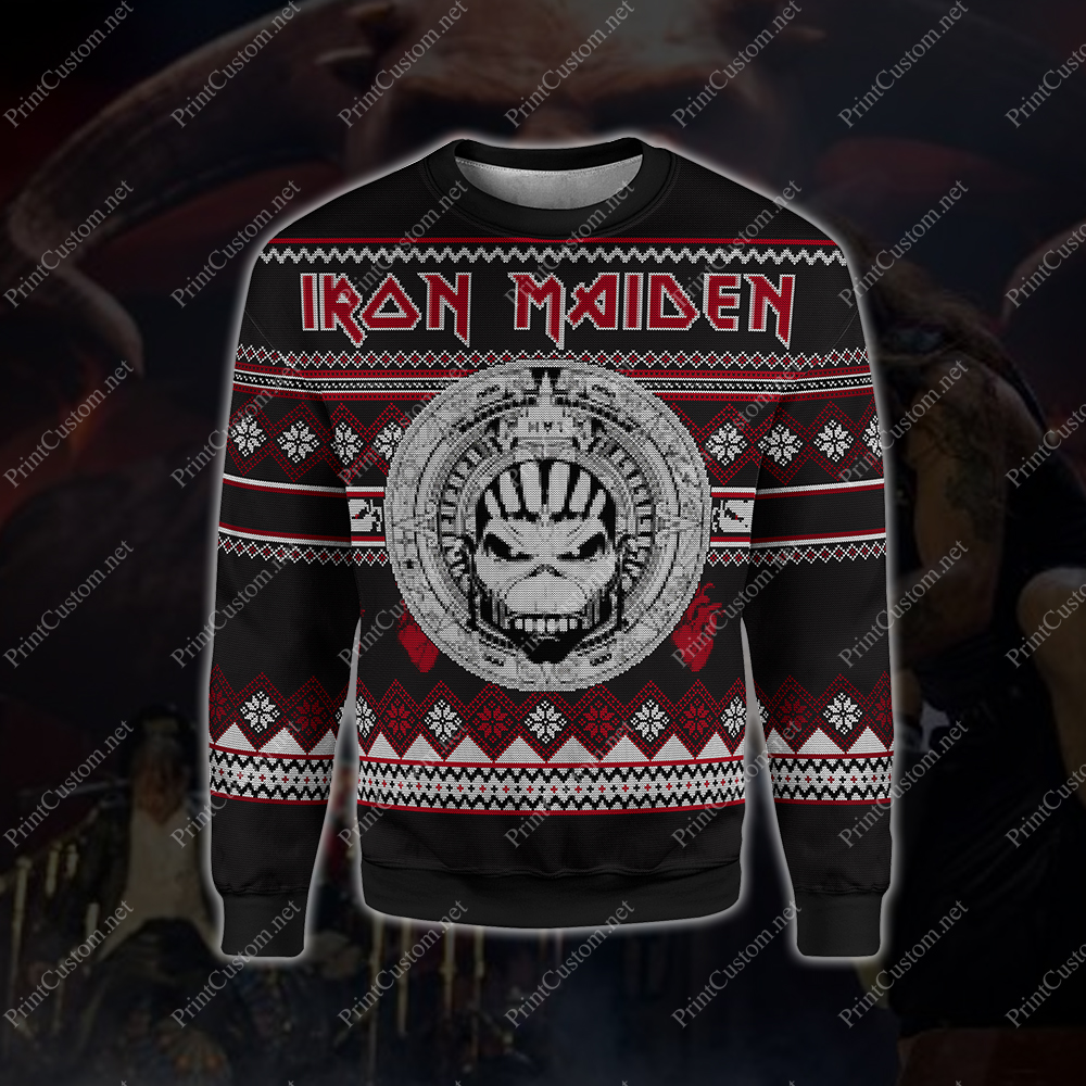 Iron maiden full printing ugly christmas sweater 1