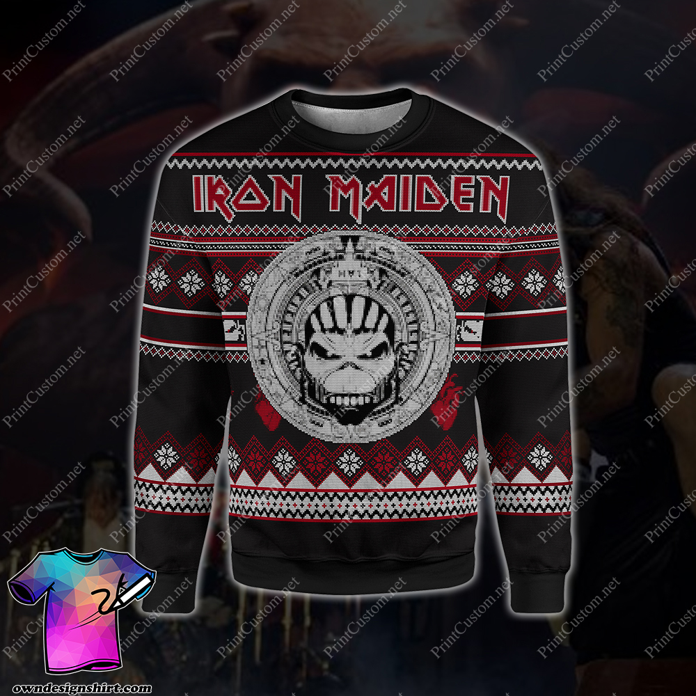 Iron maiden full printing ugly christmas sweater