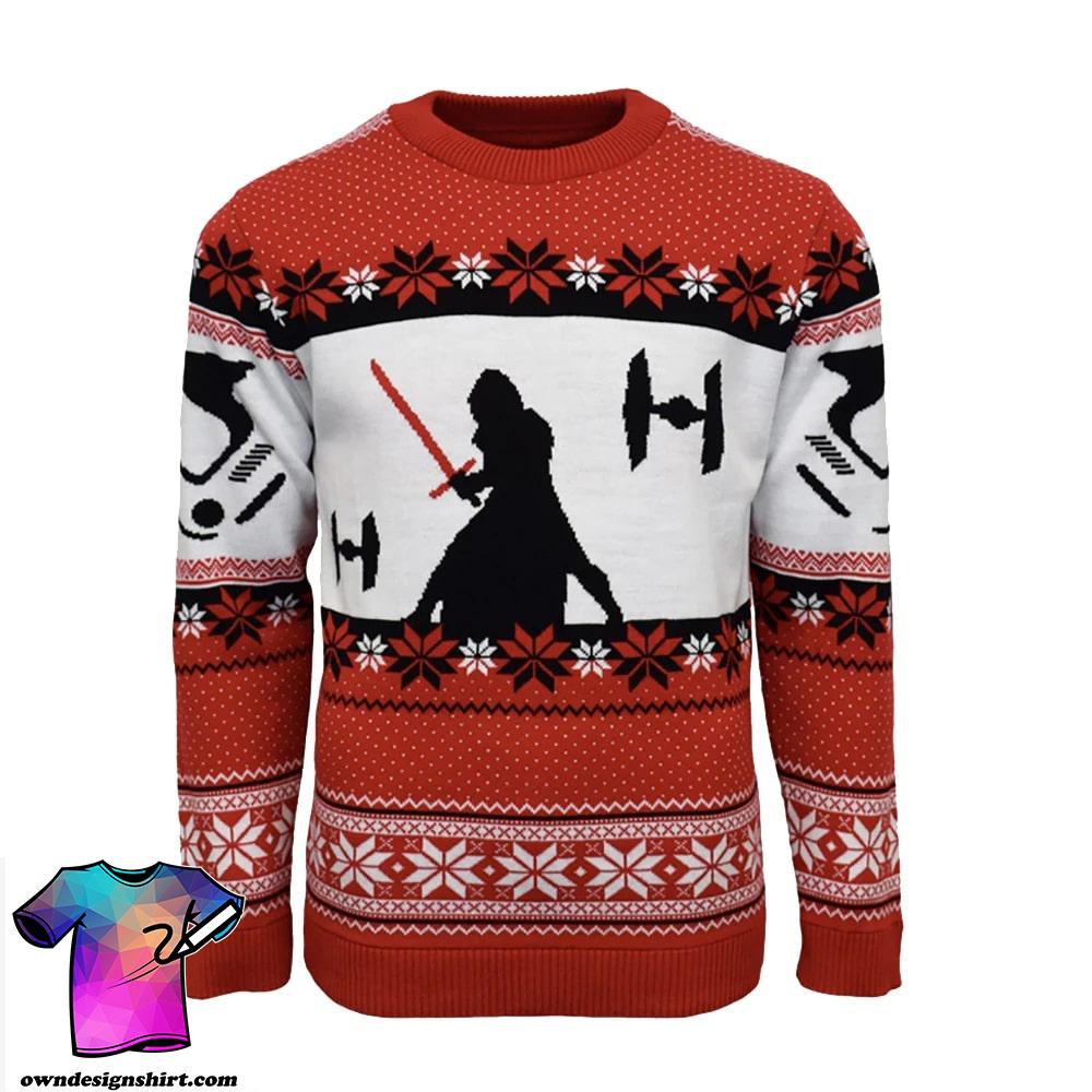 Kylo ren star wars full printing ugly christmas sweater
