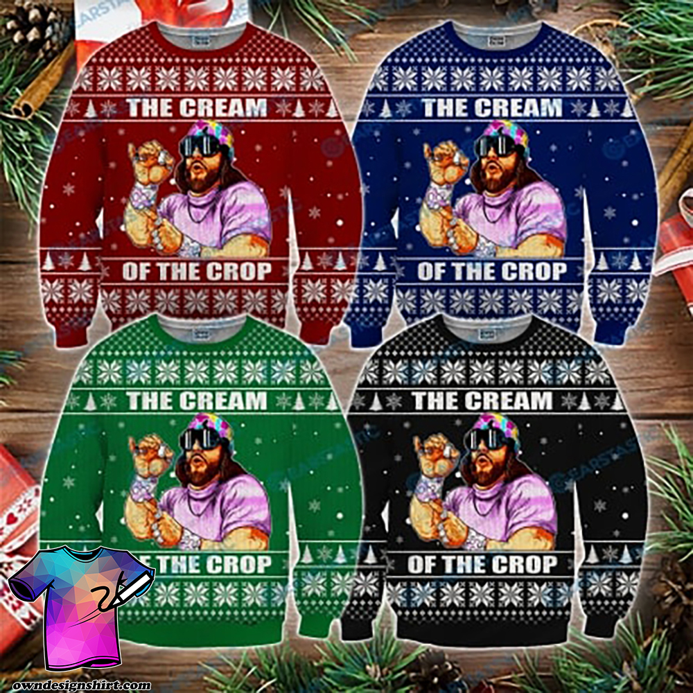 Macho man randy savage the cream of the crop ugly christmas sweater
