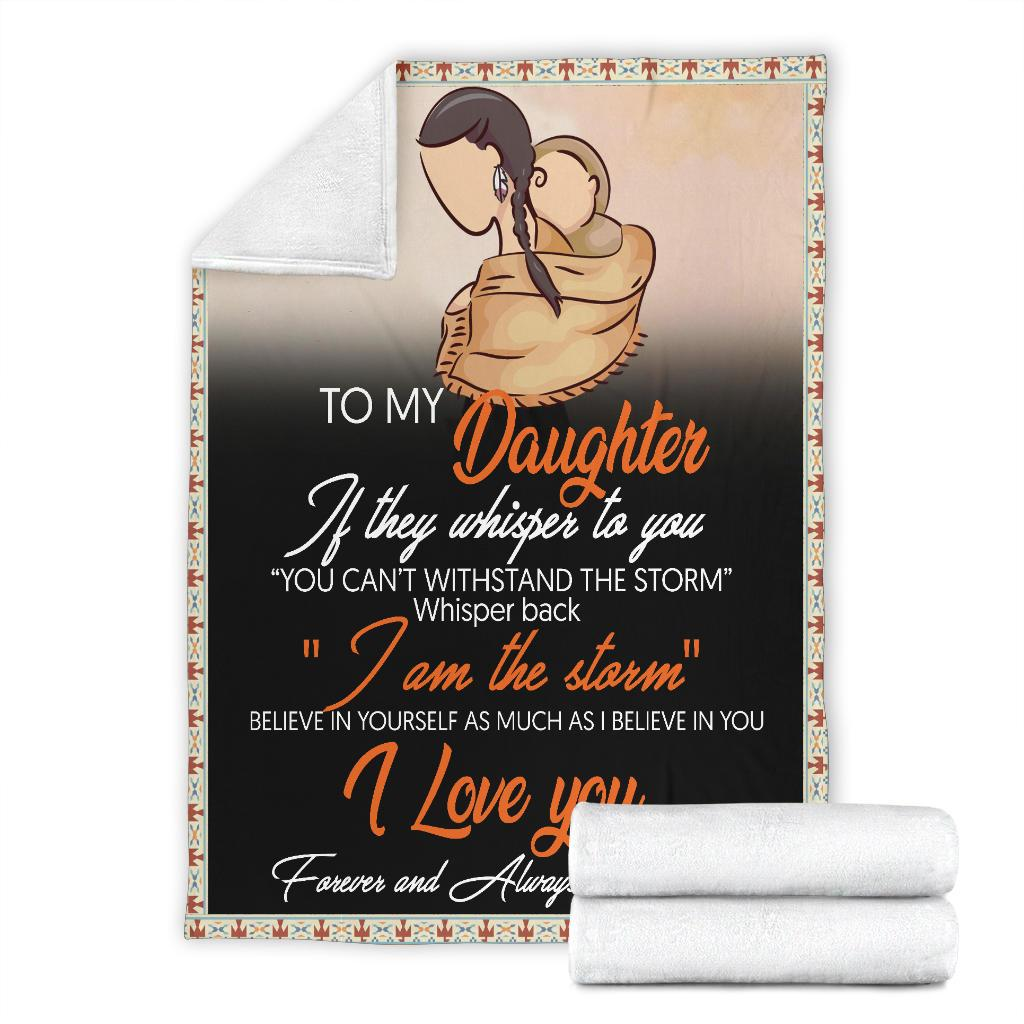 Native american to my daughter i love you blanket 3