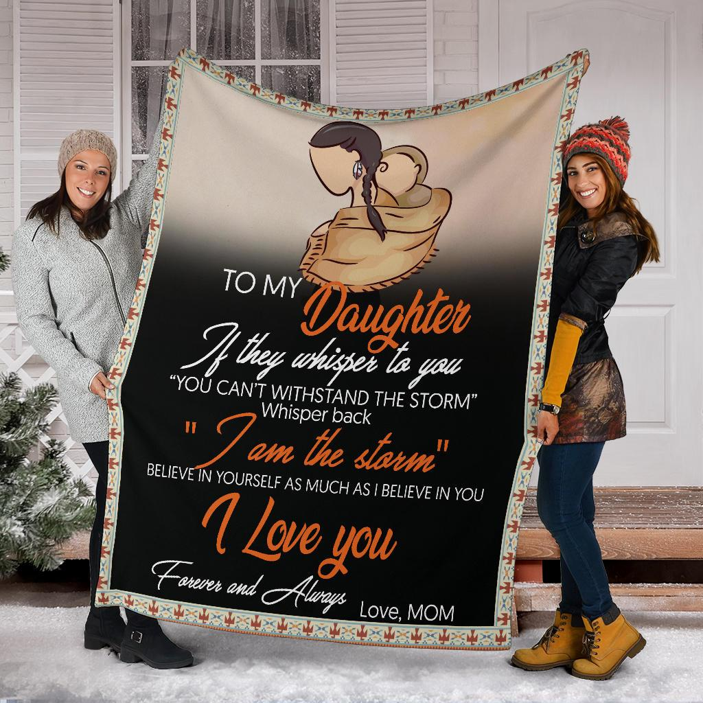 Native american to my daughter i love you blanket 5