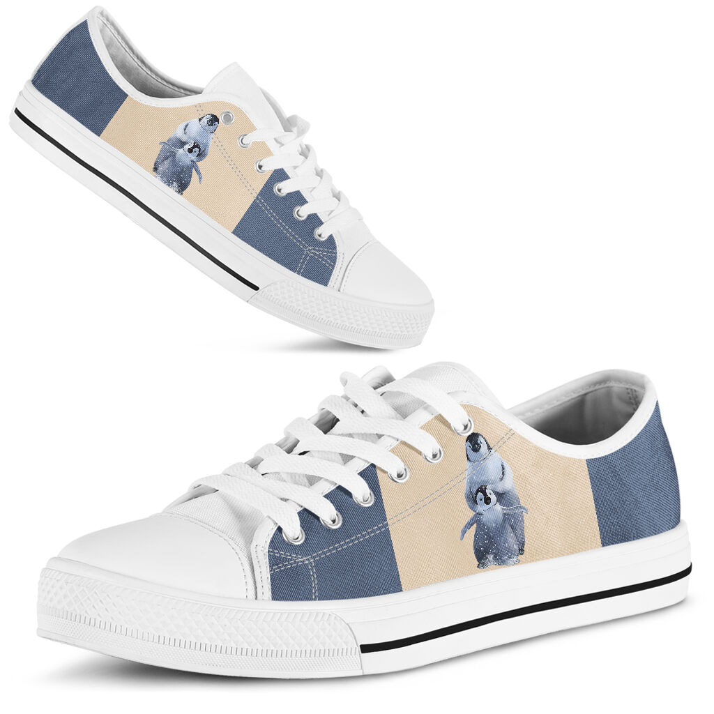 Penguin low top canvas sneakers 1