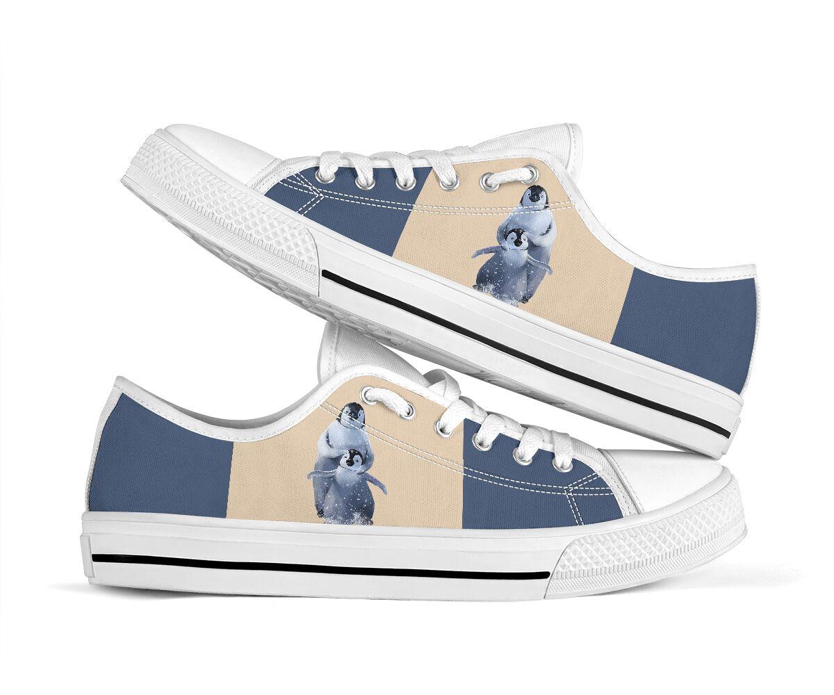 Penguin low top canvas sneakers 2