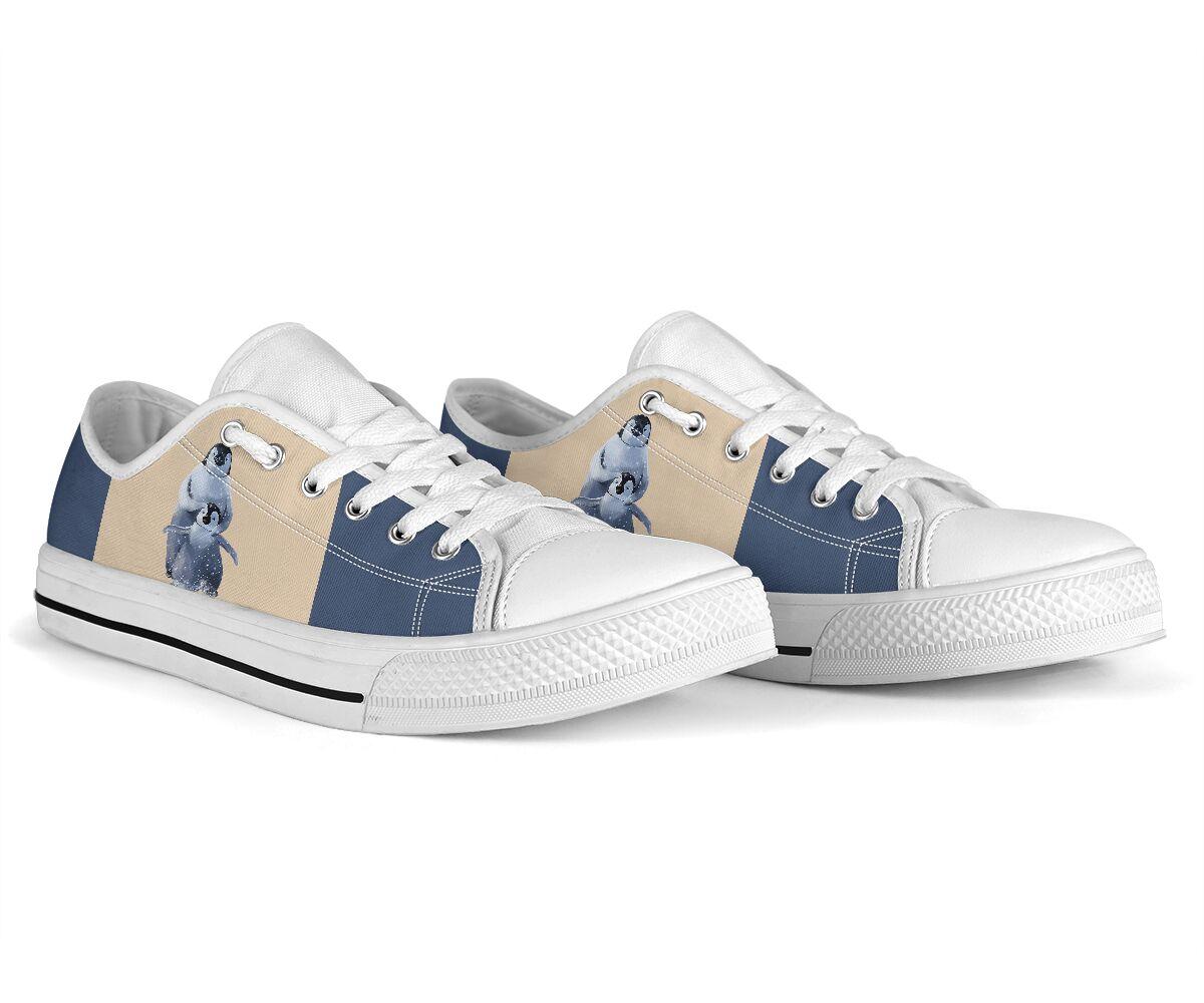 Penguin low top canvas sneakers 4