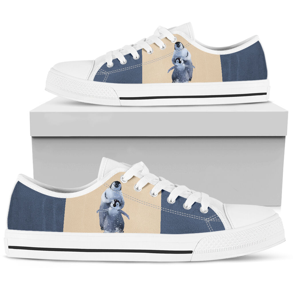 Penguin low top canvas sneakers 5