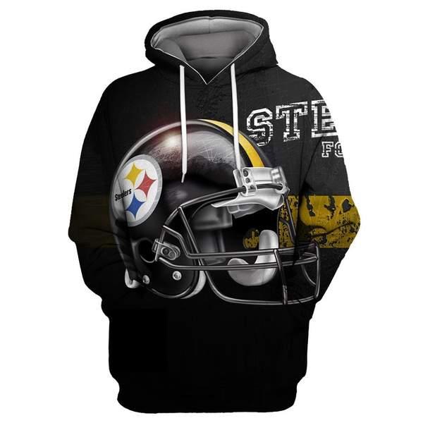 Pittsburgh steelers full printing hoodie 5