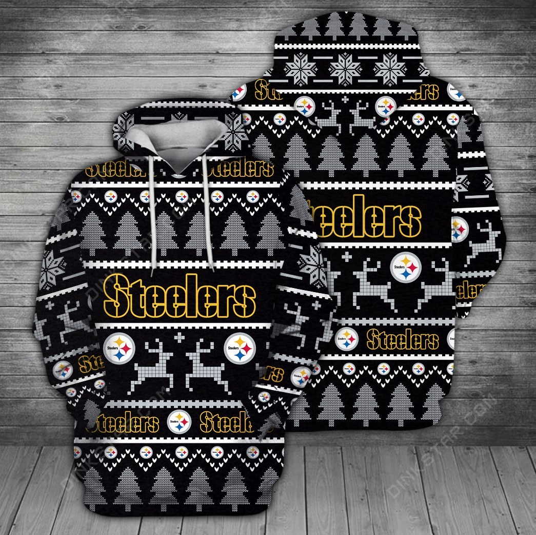 Pittsburgh steelers full printing hoodie