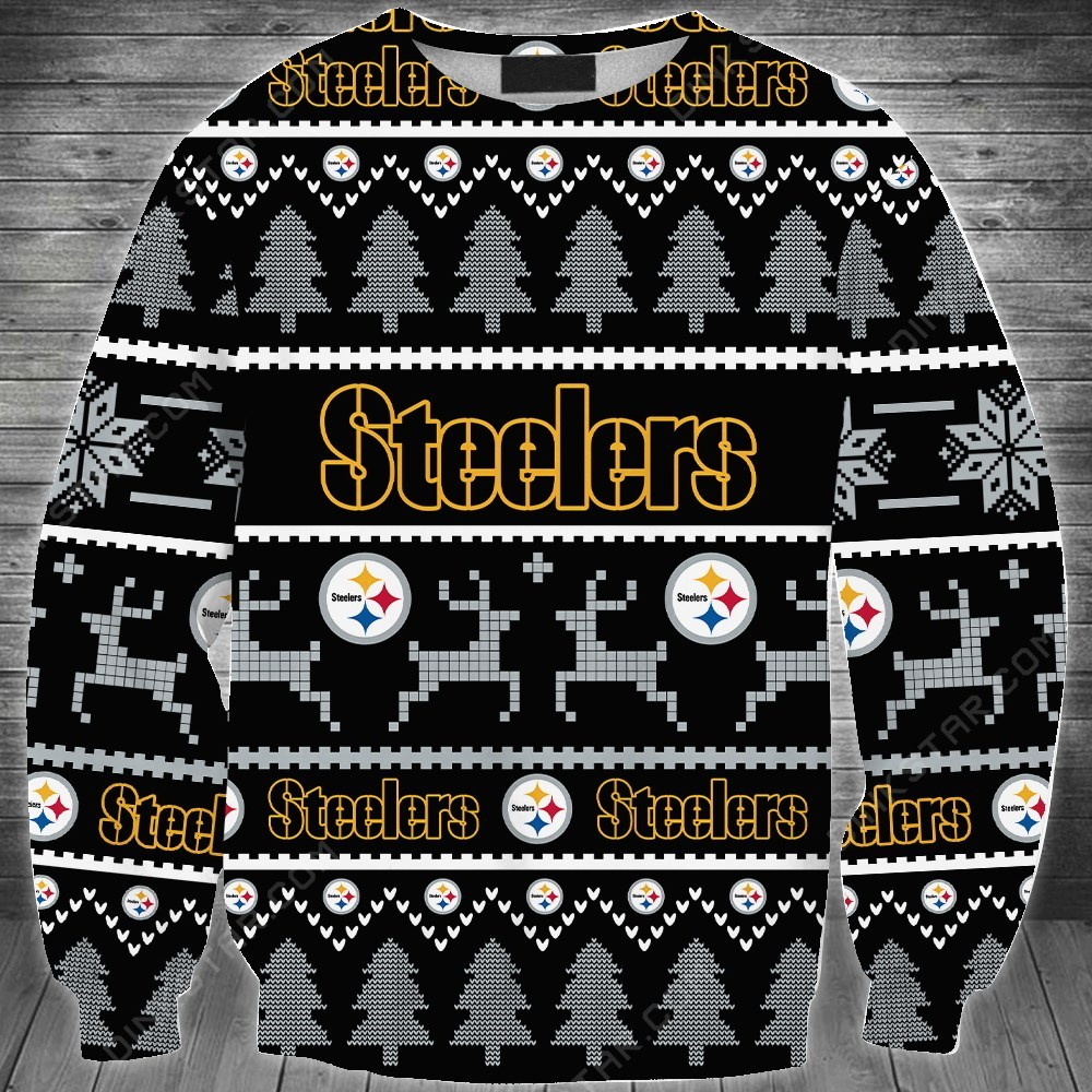 Pittsburgh steelers full printing ugly sweater 1