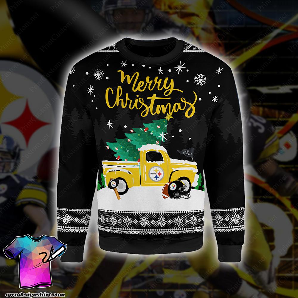 Pittsburgh steelers merry christmas full printing shirt