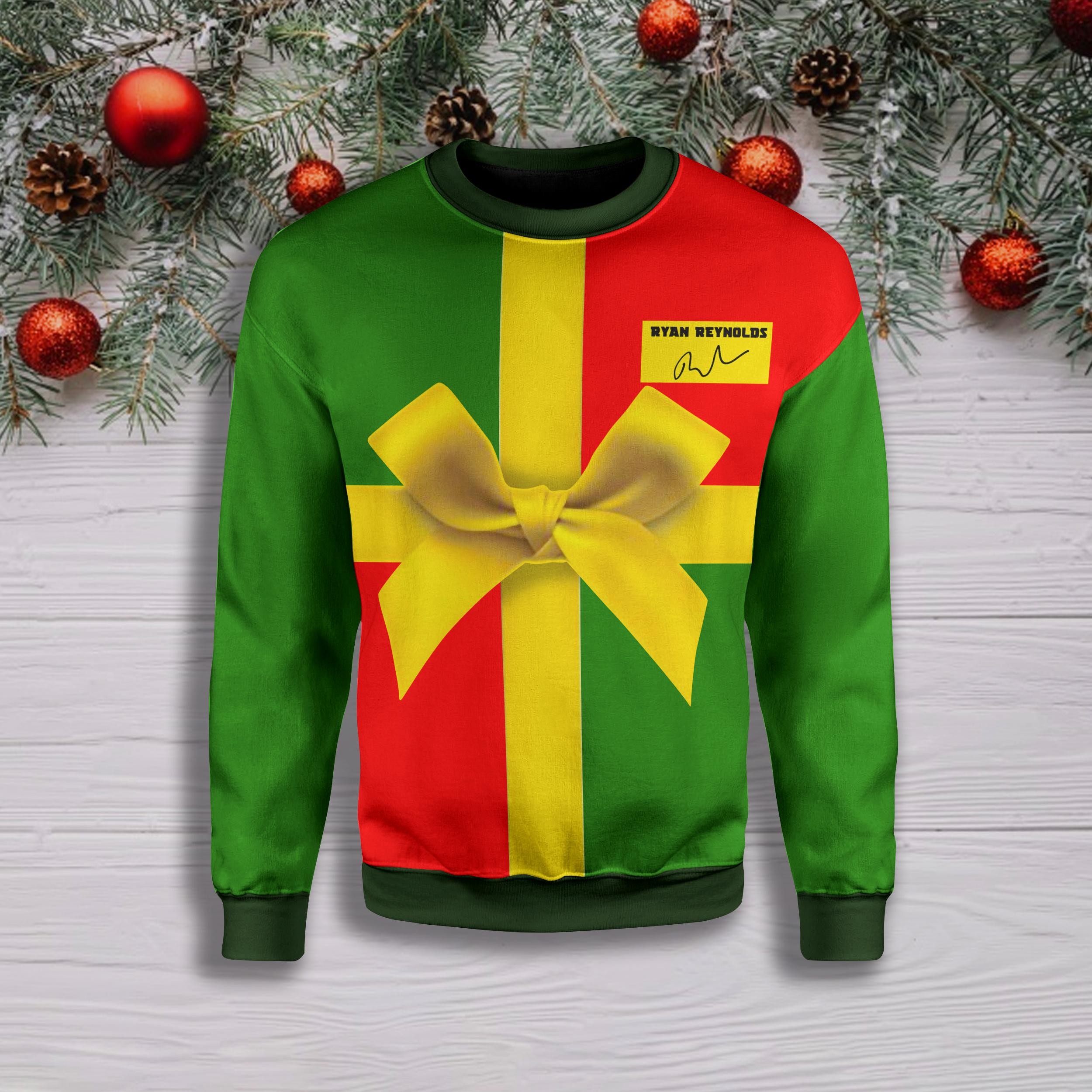 Ryan reynold full printing ugly christmas sweater 1