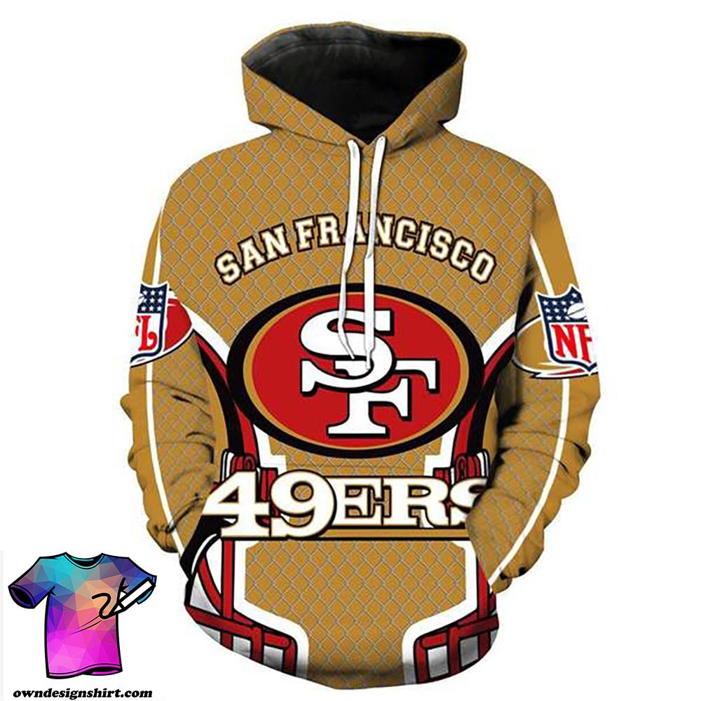 San francisco 49ers full printing hoodie