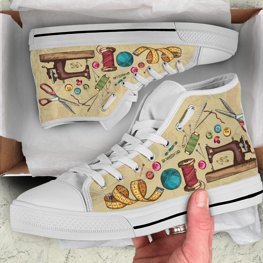Sewing pattern high top sneakers 1