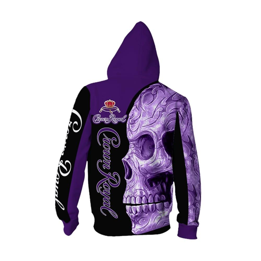 Skull Crown Royal all over print hoodie 1
