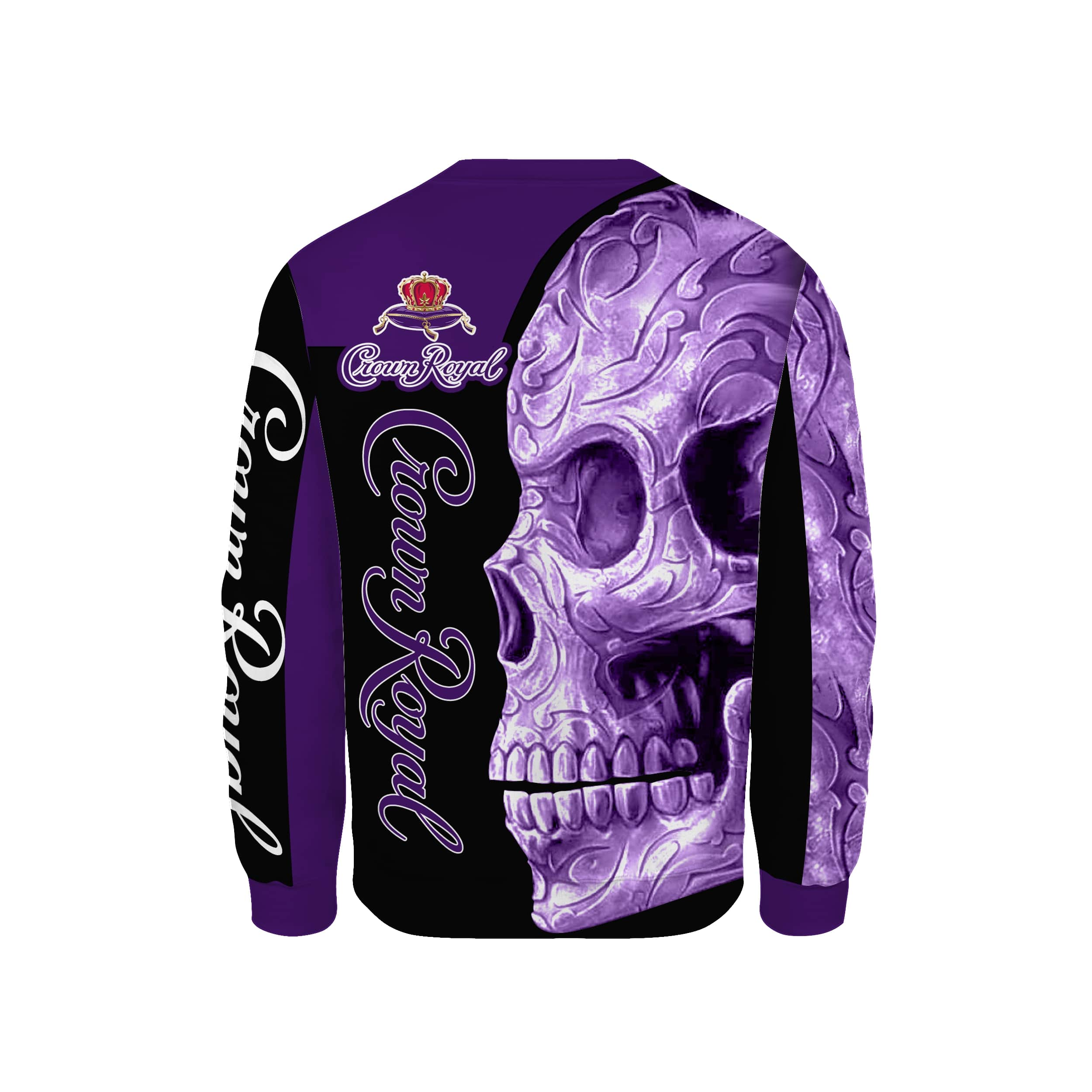 Skull Crown Royal all over print sweatshirt 1