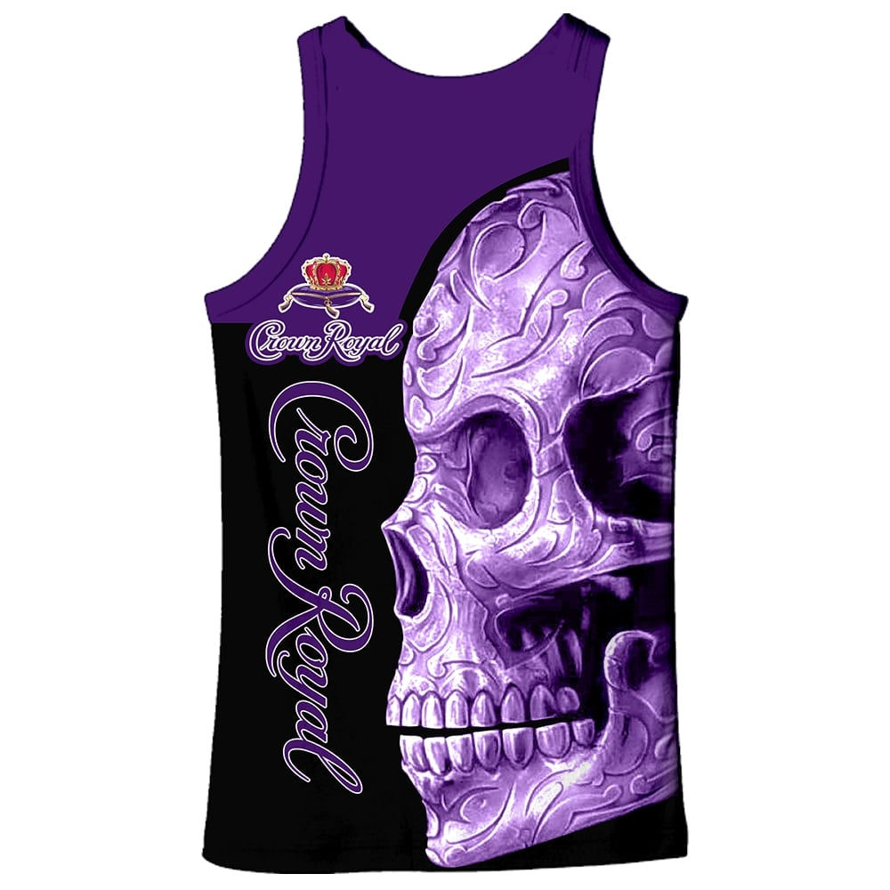 Skull Crown Royal all over print tank top
