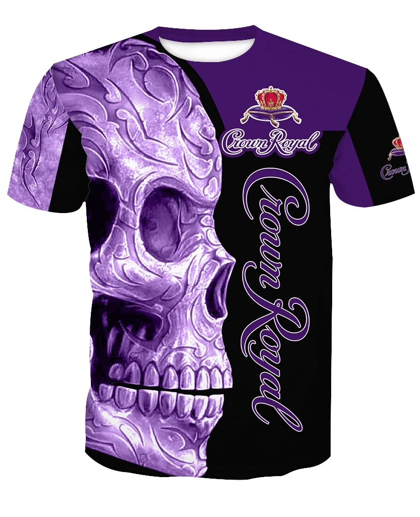 Skull Crown Royal all over print tshirt 2