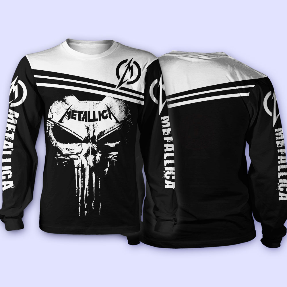 Skull metallica all over print sweatshirt