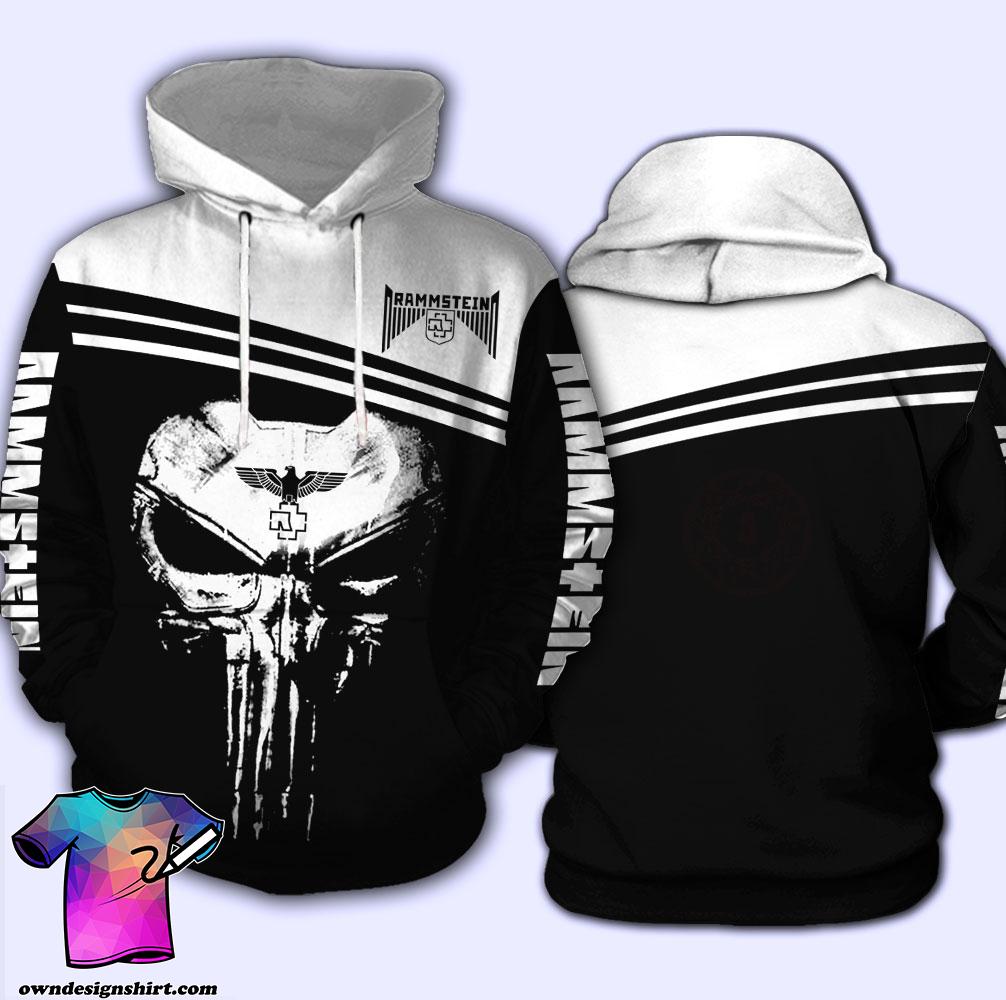 Skull rammstein all over print hoodie