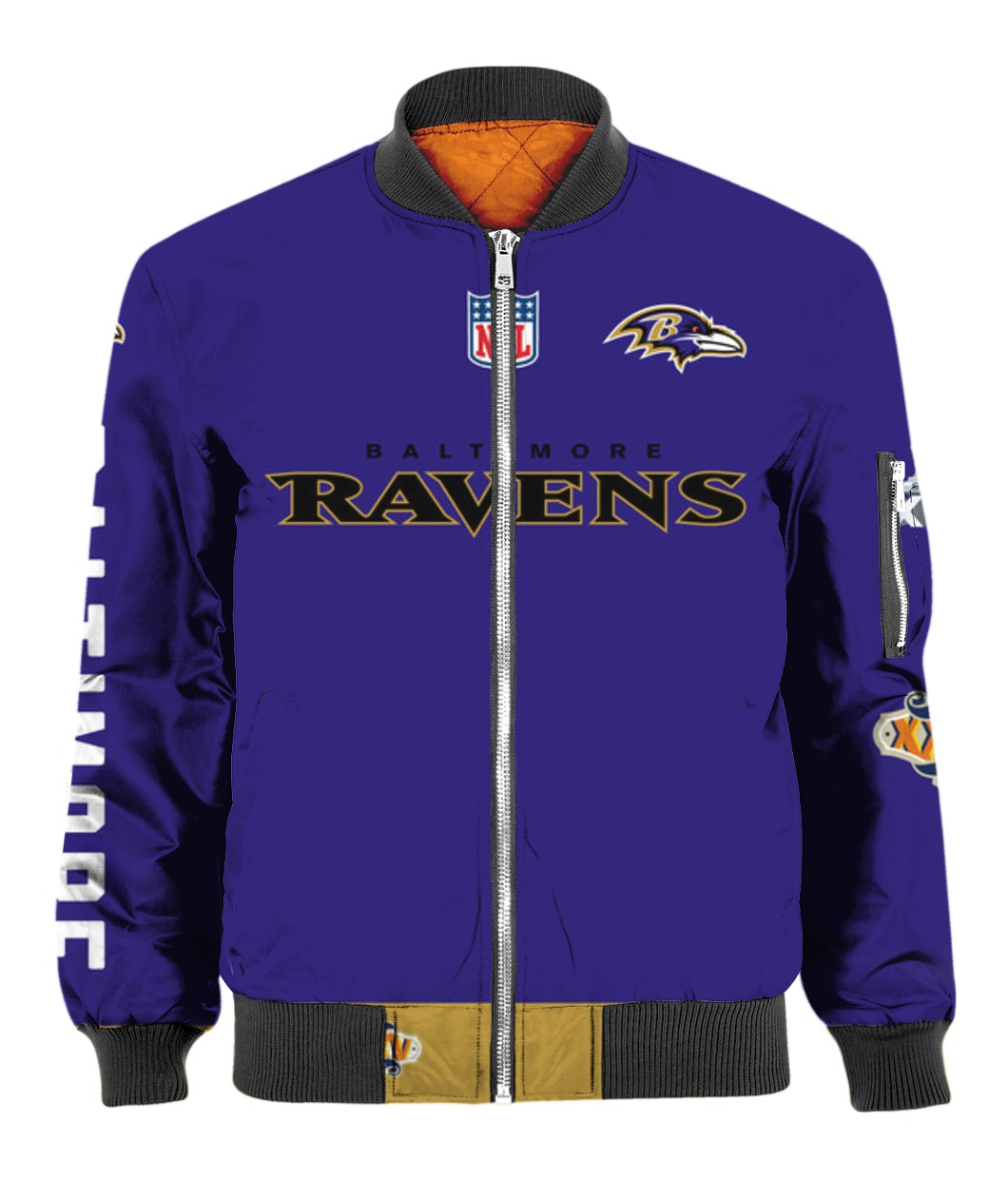 Stand for the flag kneel for the cross baltimore ravens all over print bomber