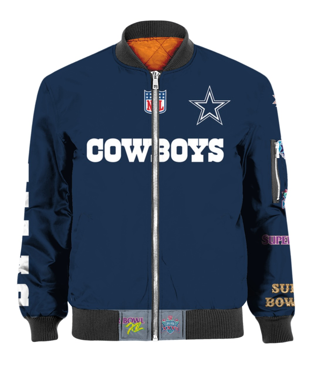Stand for the flag kneel for the cross dallas cowboys all over print bomber
