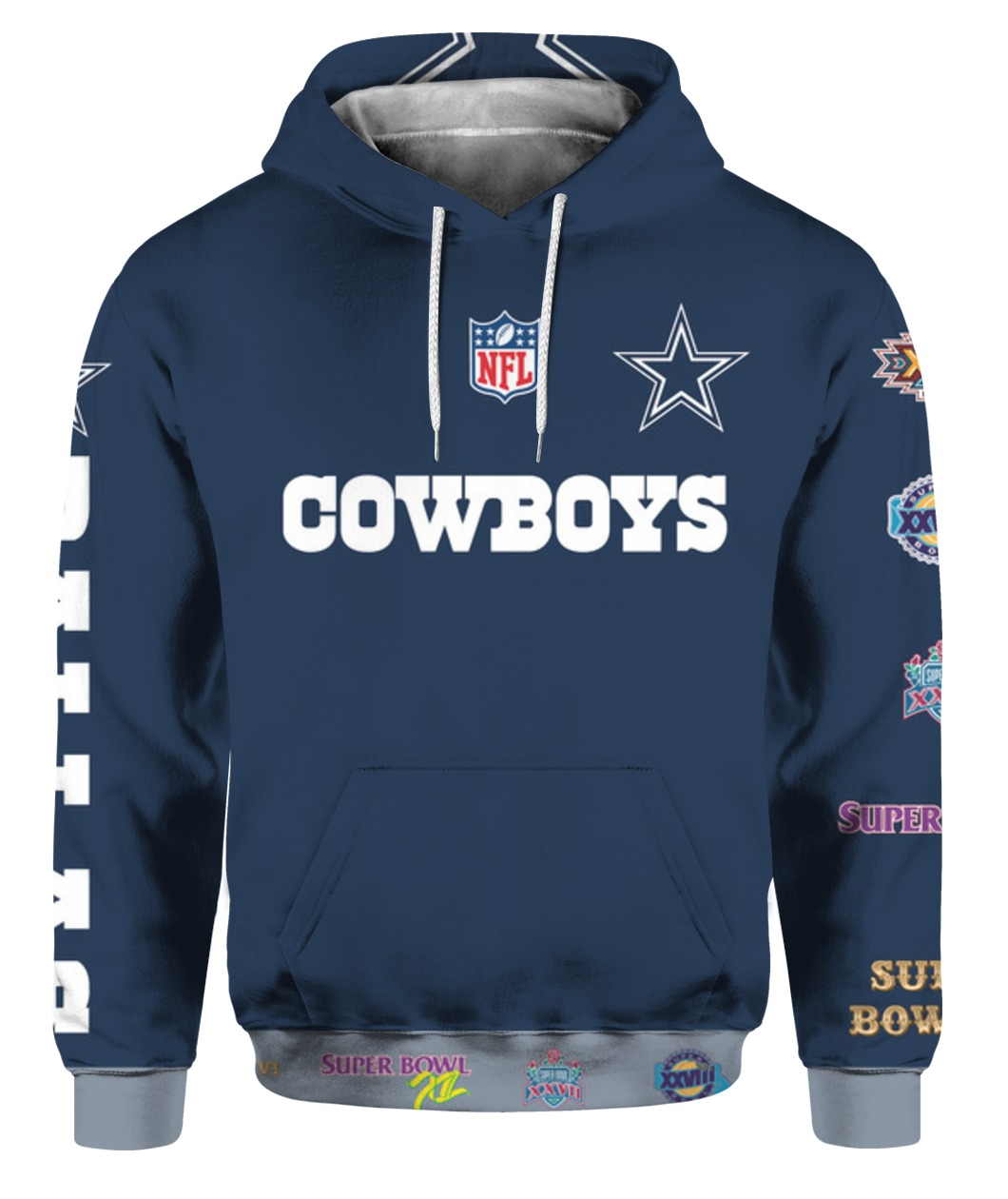 Stand for the flag kneel for the cross dallas cowboys all over print hoodie