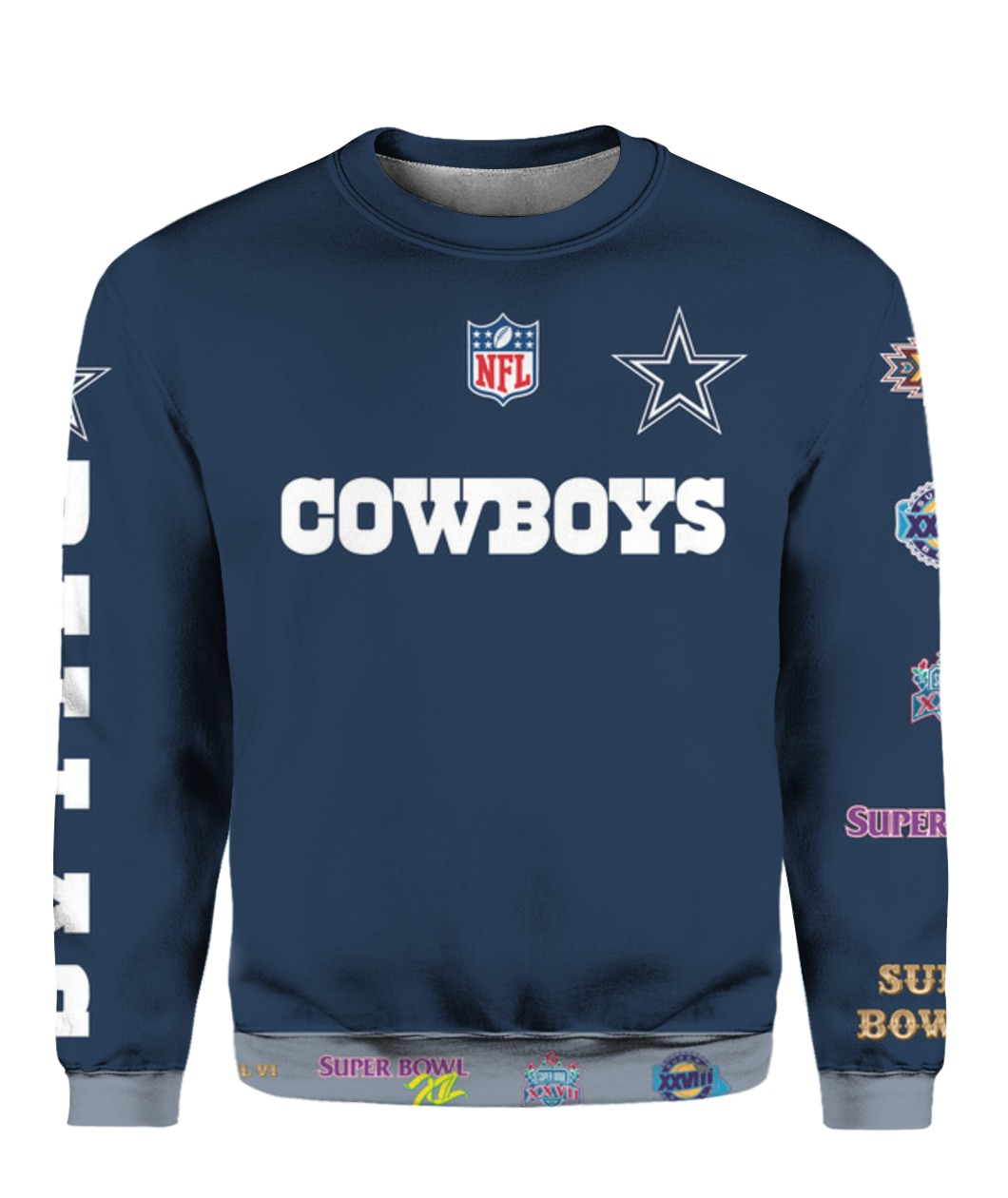 Stand for the flag kneel for the cross dallas cowboys all over print sweatshirt
