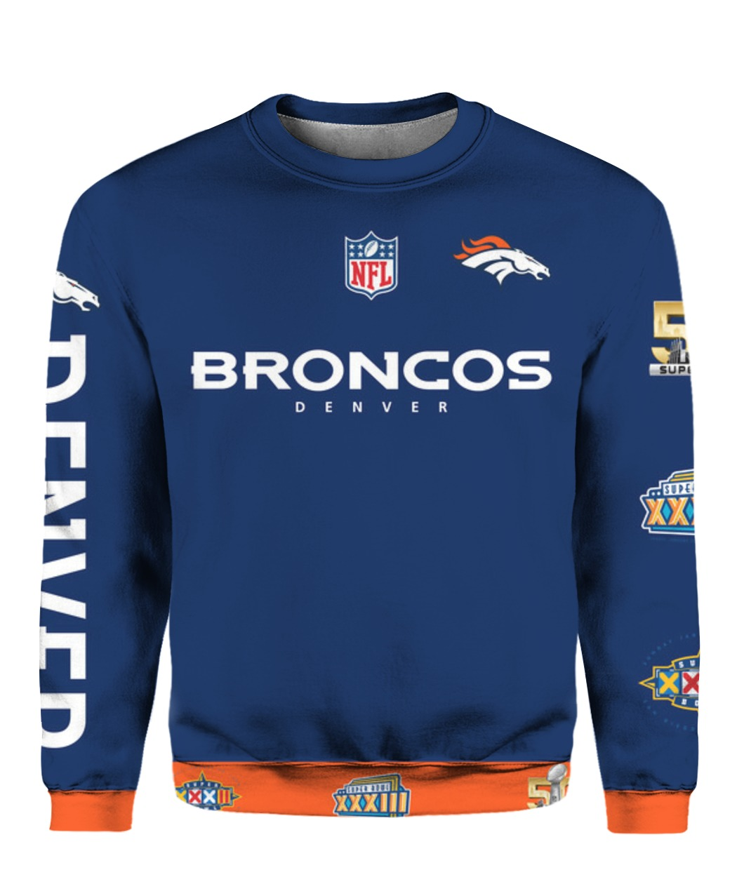 Stand for the flag kneel for the cross denver broncos all over print sweatshirt