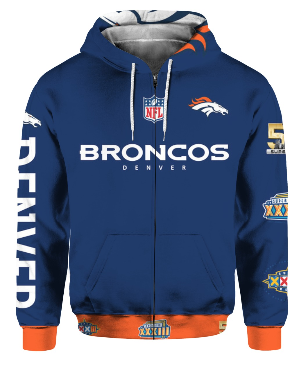 Stand for the flag kneel for the cross denver broncos all over print zip hoodie