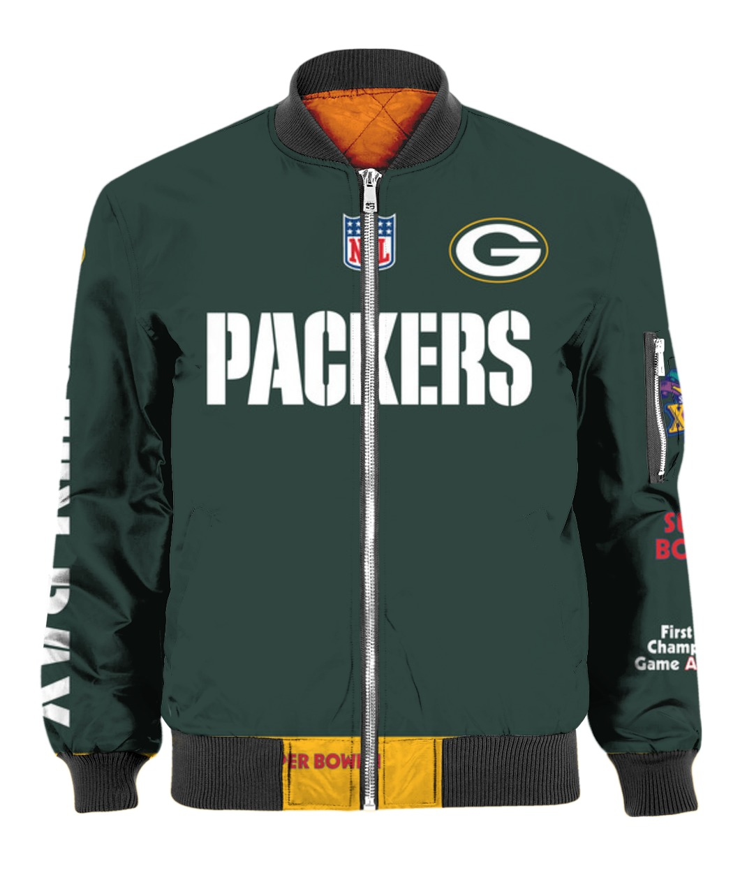 Stand for the flag kneel for the cross green bay packers all over print bomber