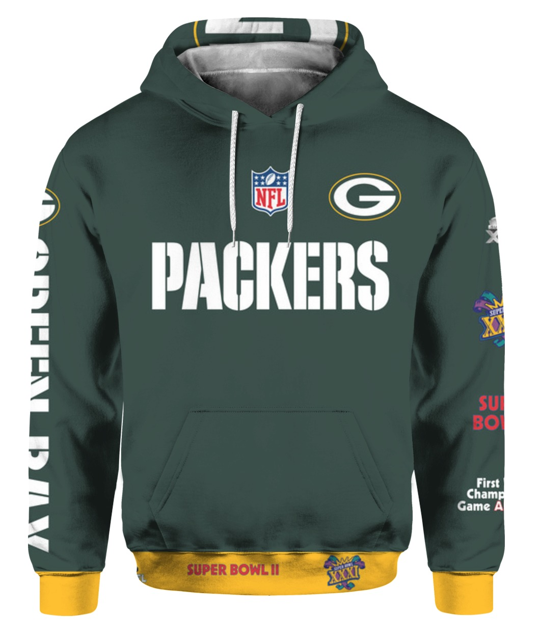Stand for the flag kneel for the cross green bay packers all over print hoodie