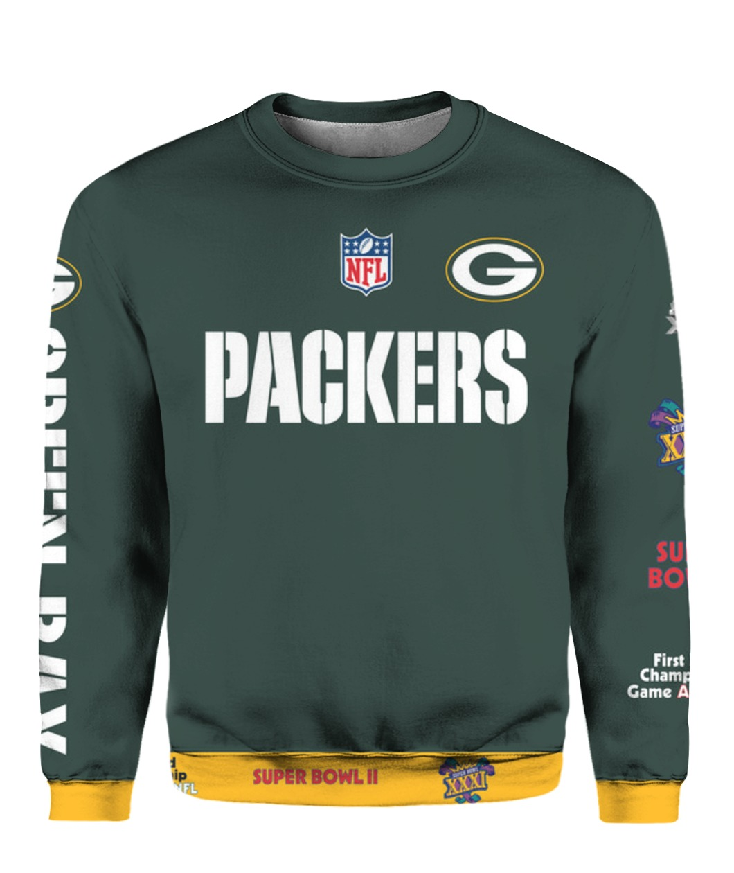 Stand for the flag kneel for the cross green bay packers all over print sweatshirt