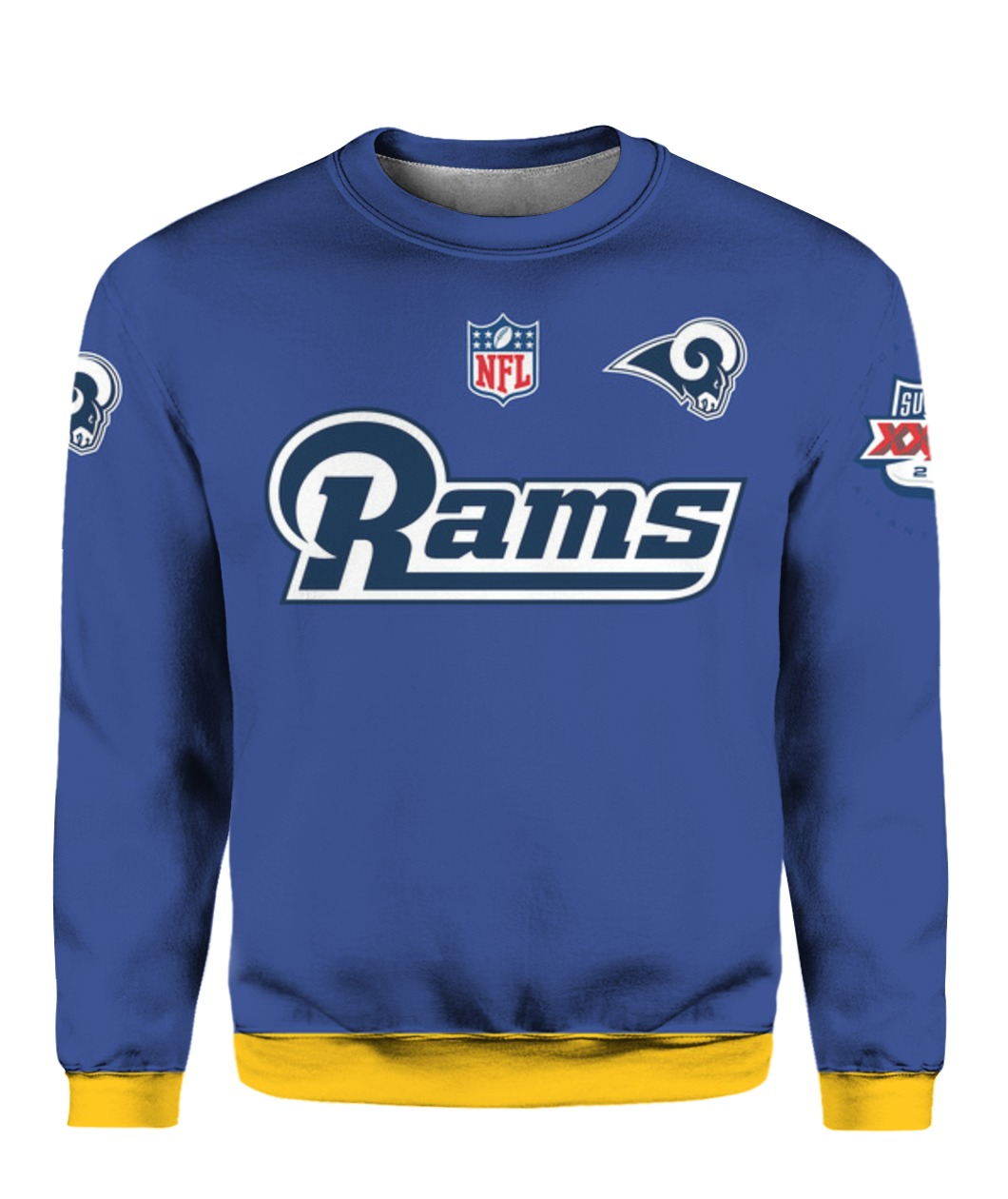 Stand for the flag kneel for the cross los angeles rams all over print sweatshirt